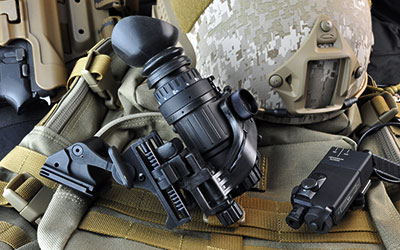 Armasight PVS-14 night vision monocular shown on weapon mount